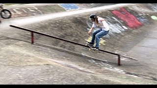 ANDY ANDERSON SKATING UP RAILS IN THE RAIN !!! VANCOUVER TRIP FINAL EPISODE - NKA VIDS -