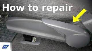 How to repair seat adjustment handle / Jak opravit páku sedadla na Mercedes-Benz A Class W168 MF