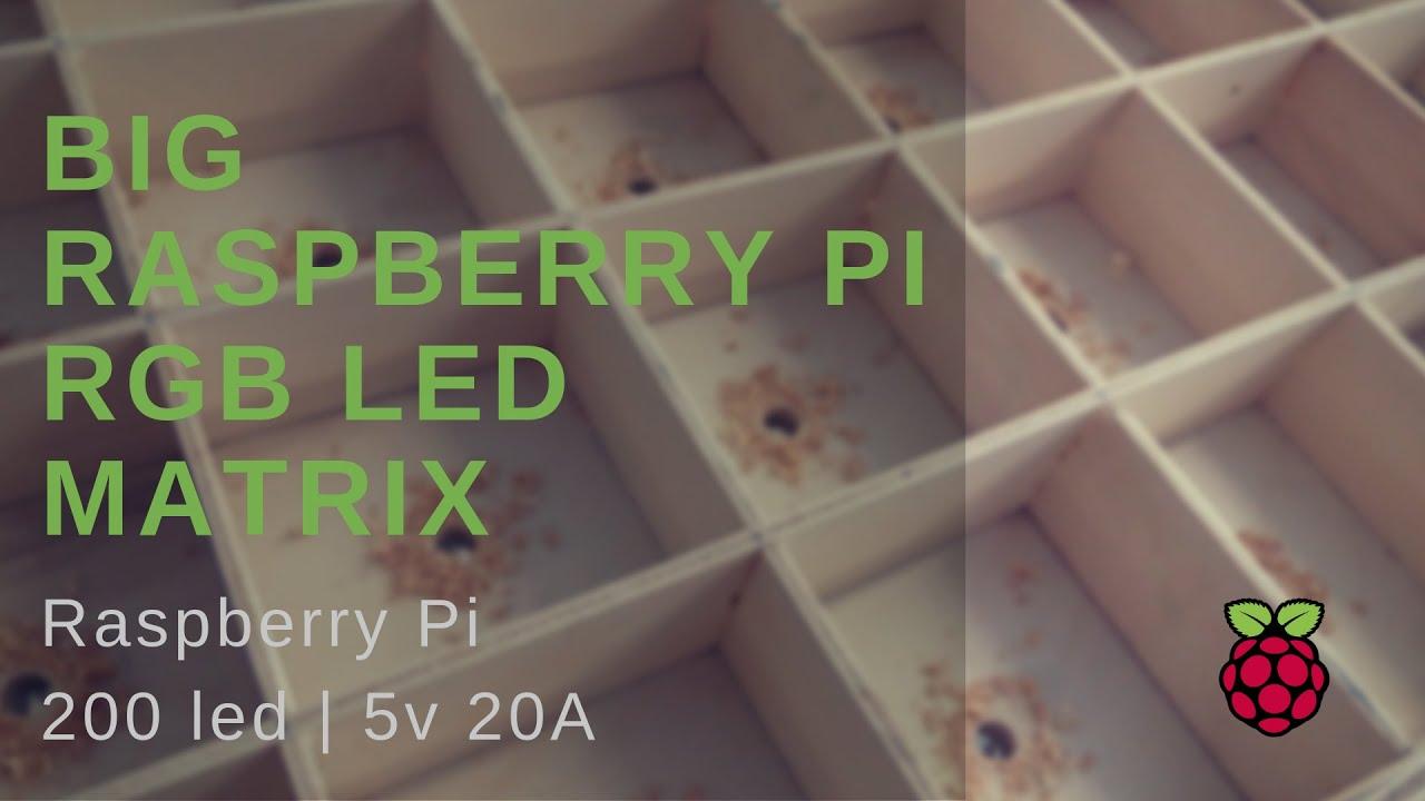 Remote Big Led Matrix Artnet Raspberry Pi: 8 Steps (with
