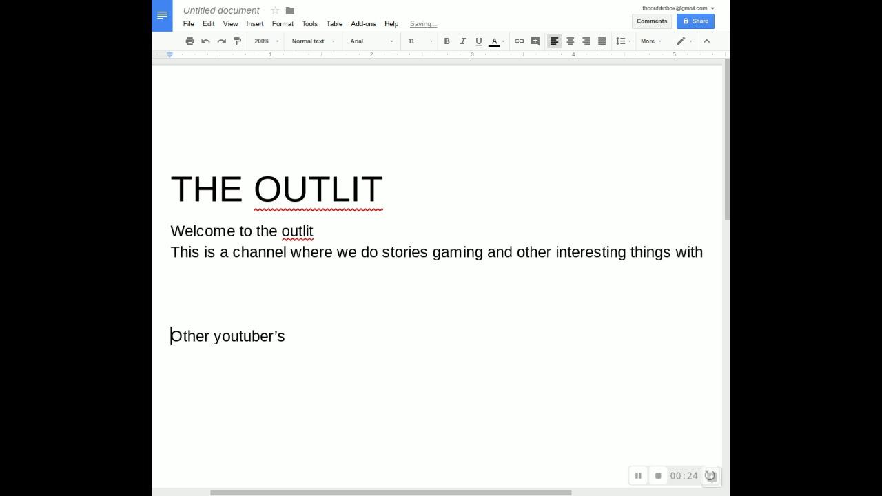 Untitled document - Google Docs - YouTube
