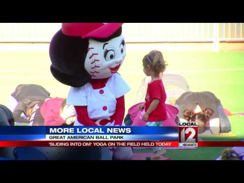 'Sliding Into Om' yoga event held at Great American Ball Park