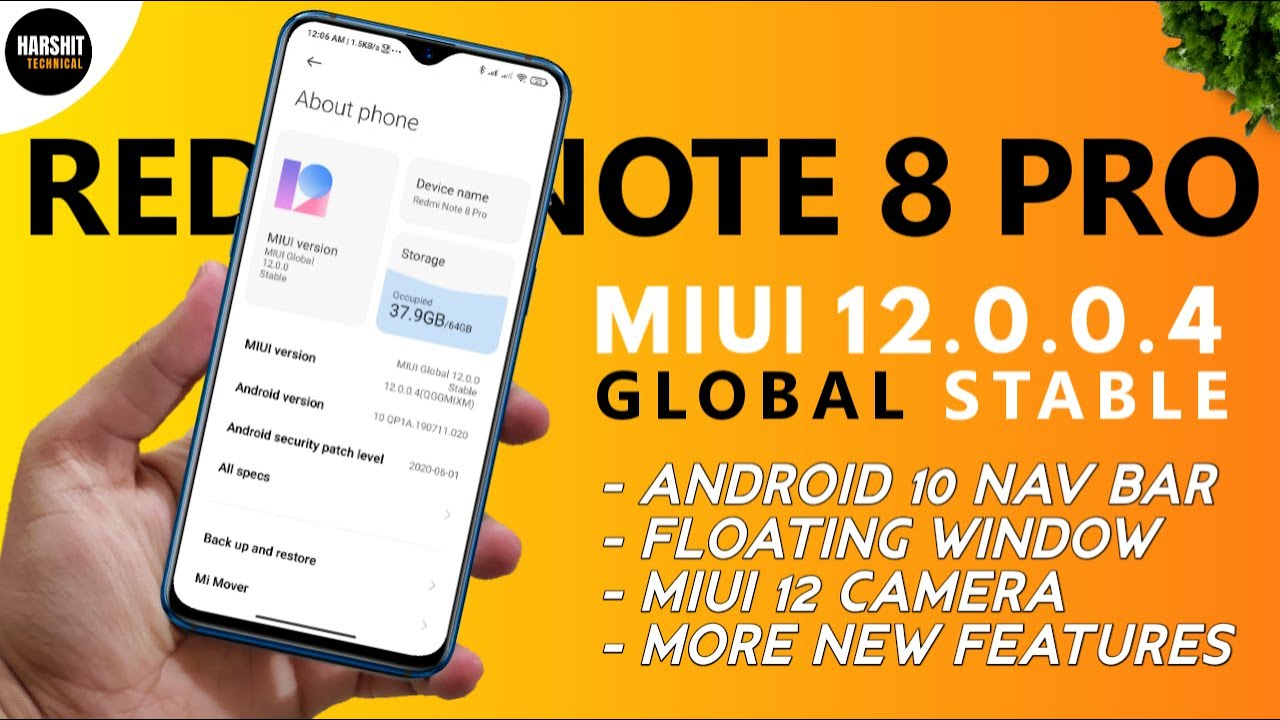 Official Redmi Note 8 Pro Miui 12 Global Stable Update Miui 12 0 0 4 Global Stable Update Youtube