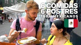6 COMIDAS Y 6 POSTRES CALLEJEROS 100% MEXICANOS | ft Ale Ivanova, Lenguasdegato y Raulitoshow