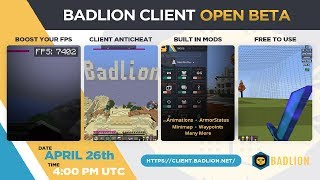 Badlion Client 2.0 Release Date/Download (Open Beta: April 26th @ 4PM UTC)