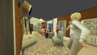 """The Sims 4, Симс 4, Жизнь в городе: Сверхсовременная  двухэтажная квартира """"Дзен-Вью 702"""""""