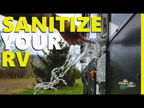 """Easy """"how to"""" sanitize your RV fresh water system and de-winterize"""