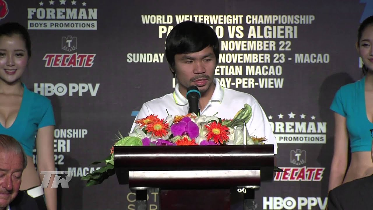 Highlights from the Pacquiao-Algieri Presser in Shanghai