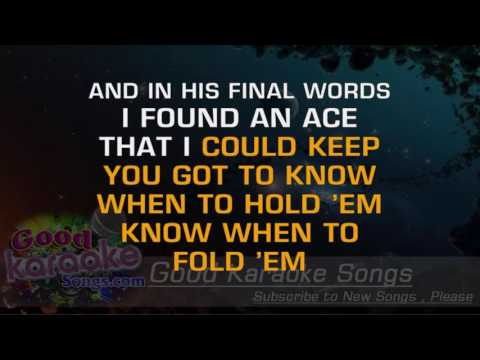 The Gambler -  Kenny Rogers (Lyrics Karaoke) [ goodkaraokesongs.com ]