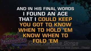 The Gambler -  Kenny Rogers (Lyrics Karaoke) [ goodkaraokesongs.com ]