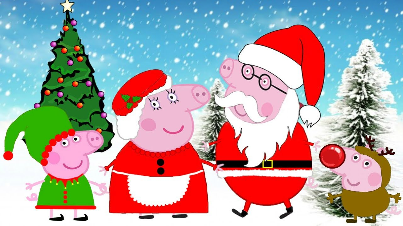 Desenho peppa pig portugu s 2015 papai noel fam lia peppa - Peppa cochon noel ...