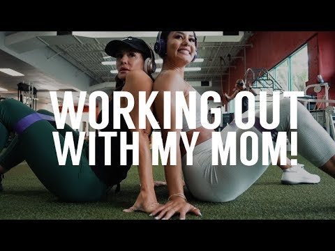 WORKING OUT WITH MY MOM! | Katya Elise Henry