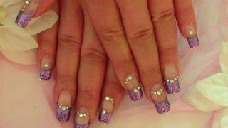 Lila Glam Nails Nageldesign Selber Machen Fur Anfanger Nail Art