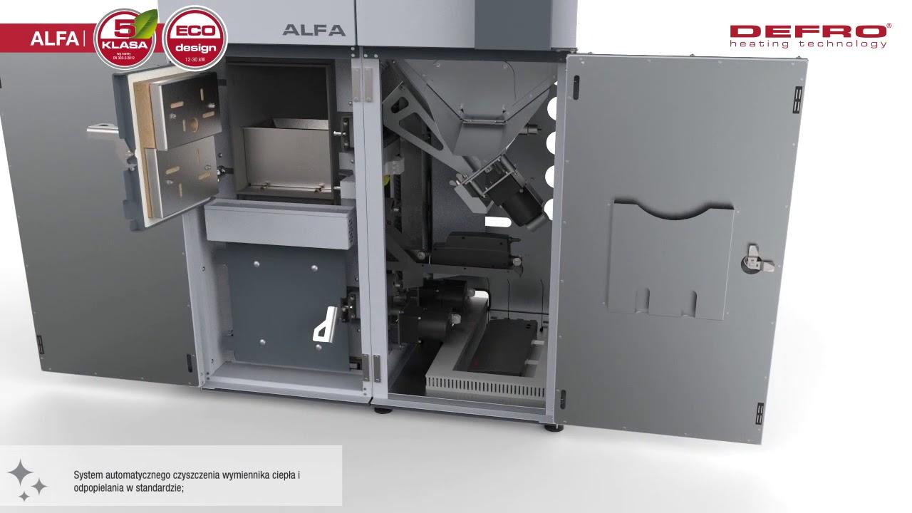 Zaawansowane Alfa - ekologiczny kocioł na pellet - DEFRO - YouTube CS72