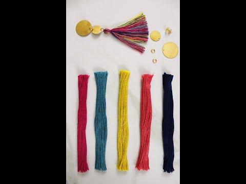 Multi Colored DIY Tassel Earrings