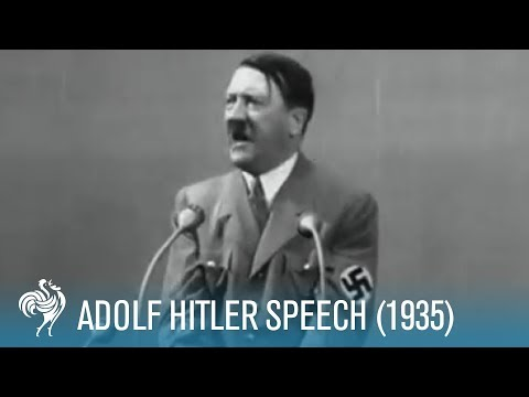 Hitler Ranting Speech (1935)