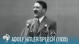 Adolf Hitler: Speech at Krupp Factory in Germany (1935) | British Pathé