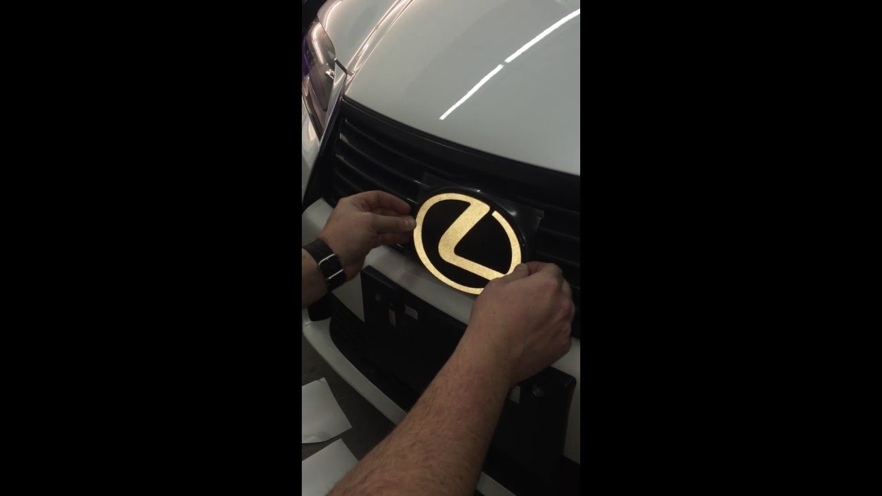 Lexus Reflective Emblem Install By Wrappers Delite