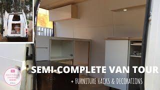 SOLO FEMALE VAN TOUR (semi-complete) + Ikea furniture hacks | E.5