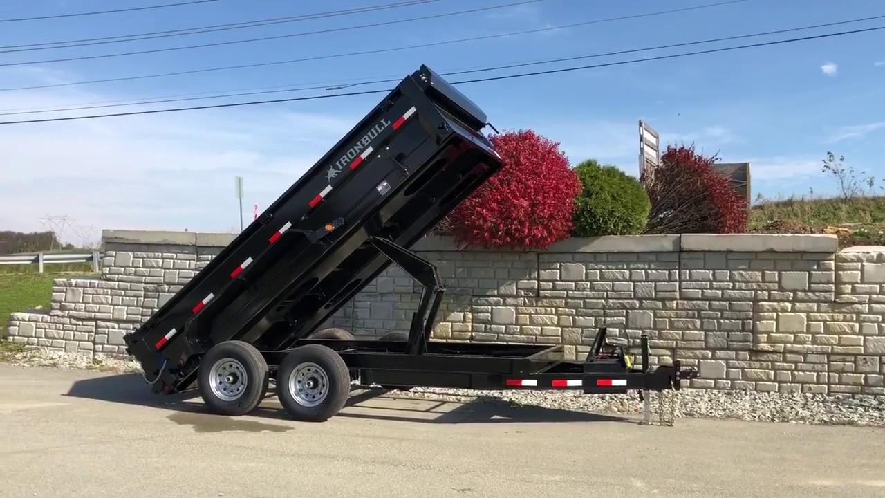 Ironbull 7x14' 14000# GVW Super Low Profile Hydraulic Dump Trailer  IB8314DLB14 DLB8314072