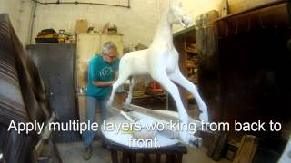 The Rocking Horse Shop - Painting and mixing Gesso with Sam Glass