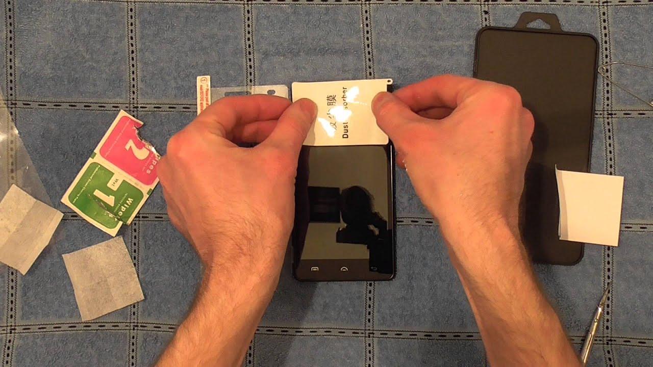 Приклеить стекло на Xiaomi