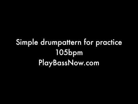 105 bpm Drum machine loop pattern