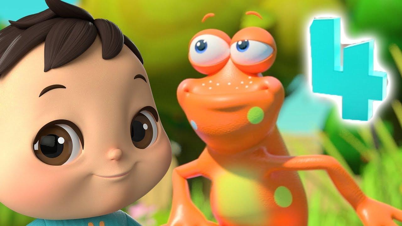 Five Little Speckled Frogs   @Lellobee City Farm - Cartoons & Kids Songs   Lellobee