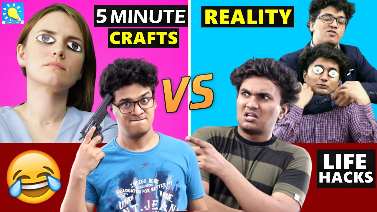 5 Minute Crafts vs Reality ☑️ | Shetty Brothers
