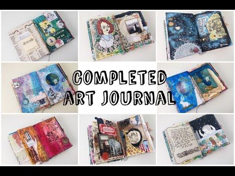 Completed Art Journal Flip Through