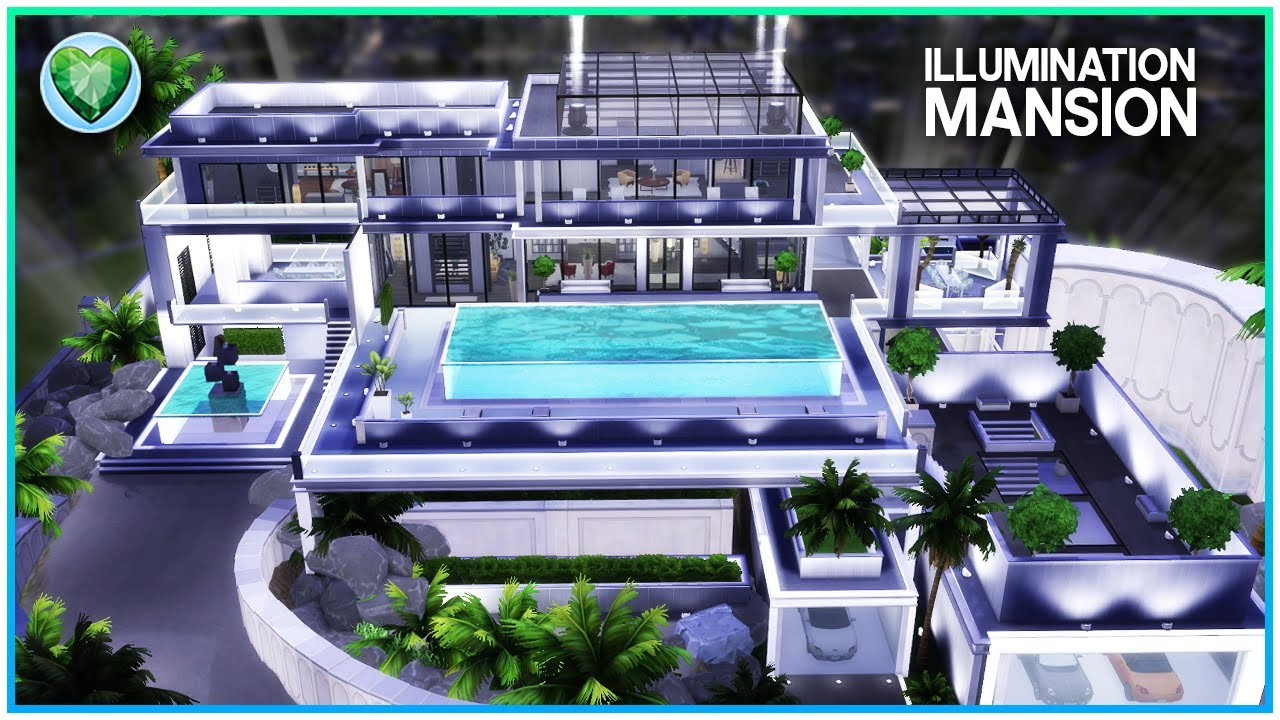 ILLUMINATION MANSION ✨ [NO CC] - Sims 4 Speed Build | Kate Emerald