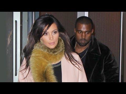 Kim Kardashian Rocks A Fur Scarf For A Night Out With Kanye [2014]