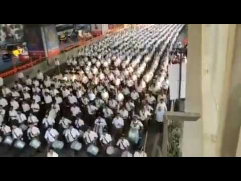 A huge RSS march past in Hyderabad