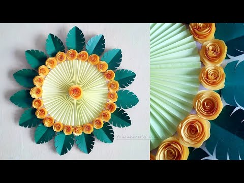 Wall Decorations Ideas at Home   DIY Wall Hanging   Paper Flower Wall Hanging