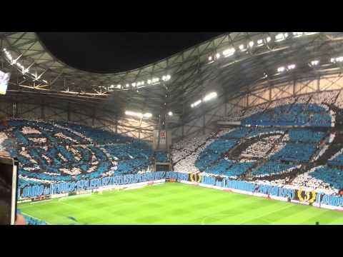 Om - Psg // Entrée des joueurs // Stade Vélodrome // Tifos // 05/04/2015