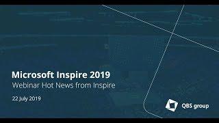 Hot News from Microsoft Inspire 2019 thumbnail