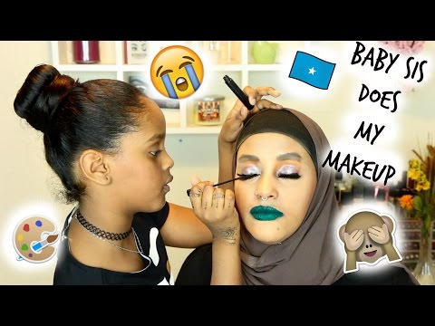 MY SISTER DOES MY MAKEUP (HILARIOUS SOMALI EDITION) | MAKEUPBYDIVADOLL