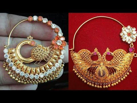 Latest LightWeight Gold Bridal Nath designs  Bridal Nose Round Ring Designs 2018