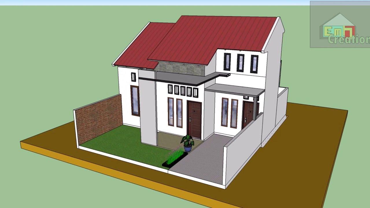 Desain Rumah Minimalis 9x9 Meter - YouTube