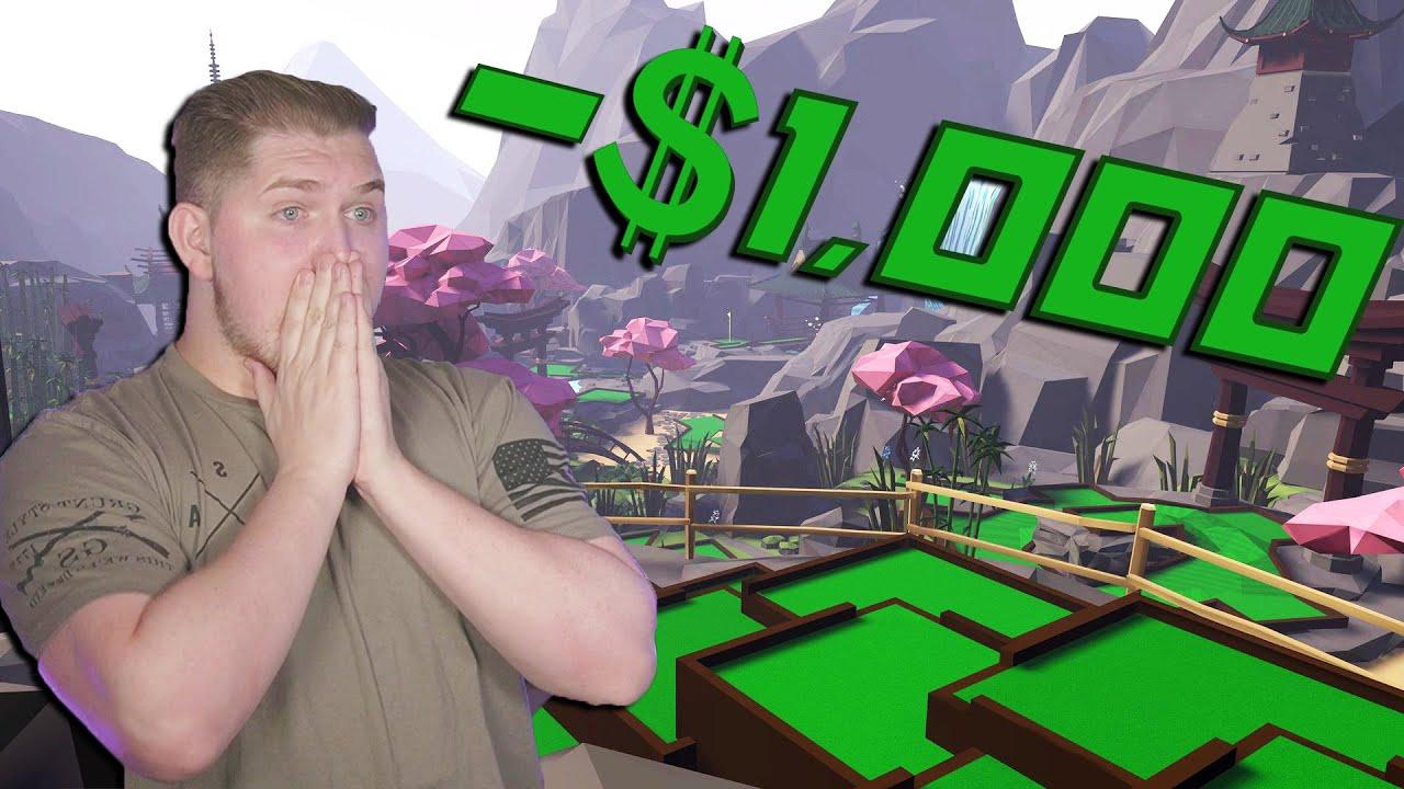 I Spent $1,000 on VR Mini Golf