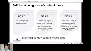 Oracle Contract Negotiation: Dividing up Oracle Contract Terms into 3 Tiers