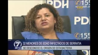 32 menores de edad infectados de serratia