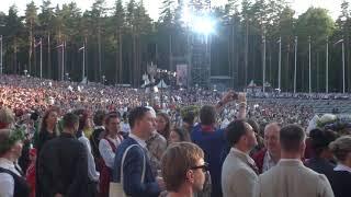 """00161 Noslēguma koncerts """"Zvaigžņu ceļā"""" un kopēja sadziedāšanās 08.07.2018"""