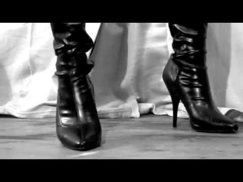 06efdb48b71f High heels leather boots sexy shoes - YouTube