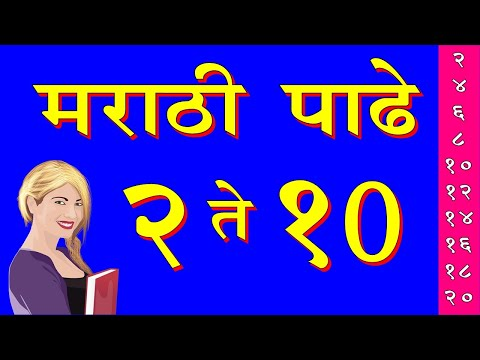 मराठी पाढे 2 ते 10 | Marathi Padhe 2 To 10 | Marathi Tables 1 To 10 | Marathi Padhe 2 To 30 |