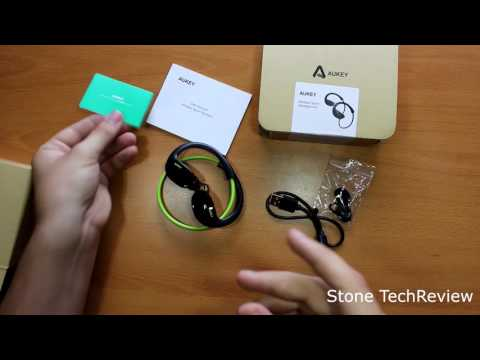 Unboxing AUKEY Bluetooth Kopfhörer 4,1 Nackenbügel Sport Stereo Headset mit Mikrofon