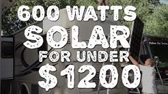 Solar Power - Stop Using Generator for Under $1200?