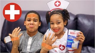Doctor Girl Saves Big Brother From Video Games