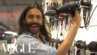 Queer Eye's Jonathan Van Ness, grooming expert extraordinaire, shops at Ricky's beauty supply and talks the show's second season. Filmed by Rebecca ...