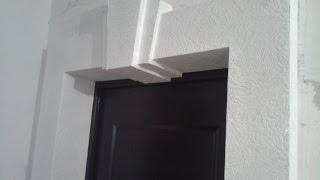 Откосы на входную дверь из гипсокартона(Альтернатива откосам входной двери из гипсокартона .Короб из ГКЛ вокруг входной двери с декоративным элеме..., 2014-11-10T16:56:20.000Z)