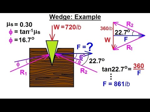 Mechanical Engineering Ch 11 Friction 30 Of 47 Wedge
